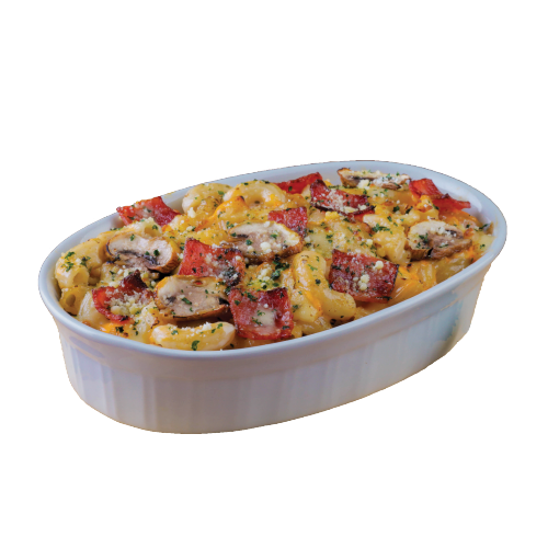 New! Mac'N Truflle Alfredo Beef Extra Cheese