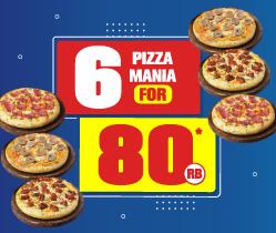 6 Pizza Mania 80 Ribu