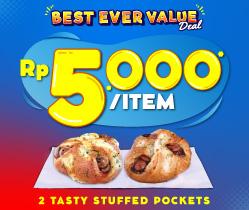 2 Tasty Stuffed Pocket 10K