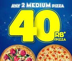 2 Pizza 40 Ribu / Pizza