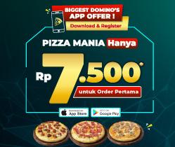 Pizza Mania HANYA Rp 7.500