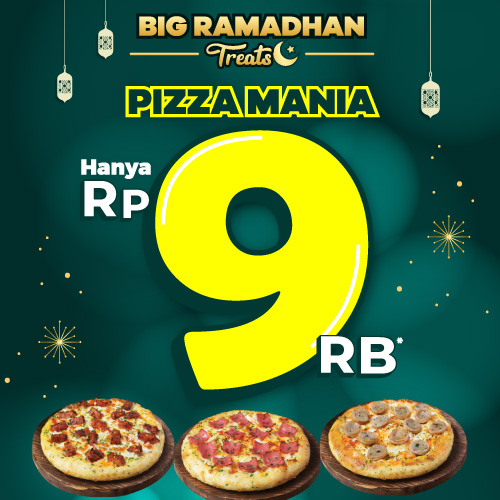 Super Sale Pizza Mania Rp 9,000