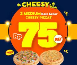 2 Cheesy Pizza 75 Ribu