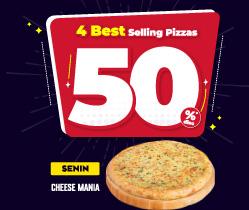 Monday - Cheese Mania SAVE 50%
