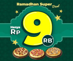 Weekend Super Sale Pizza Mania Rp 9,000