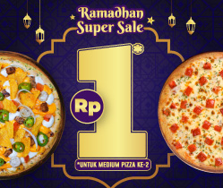 Hanya Rp 1 untuk Pizza Kedua