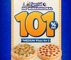 Disc. 101% untuk Pizza Kedua