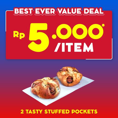 2 Tasty Stuffed Pocket 10 Ribu